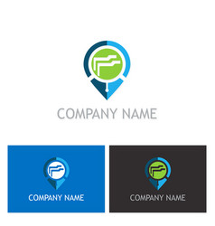 gps data technology logo vector image vector image