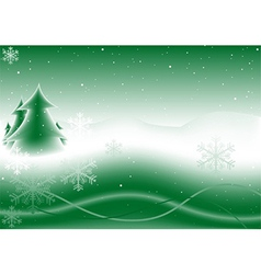 Green Christmas vector image