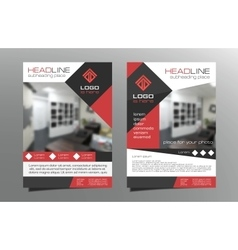 Greyred brochure flyer template design vector image vector image