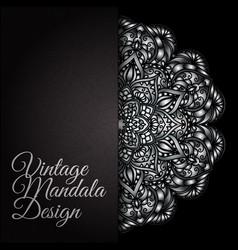 Hand drawn decorative mandala vector