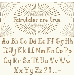 hand drawn script in classic style vector image