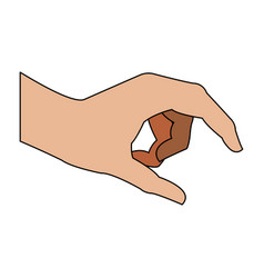 Hand holding something vector