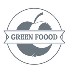 Healthy meal logo vintage style vector