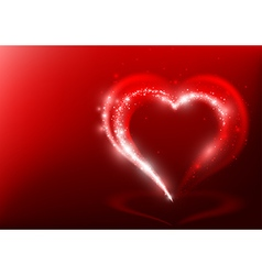 Heart shape from light beams vector
