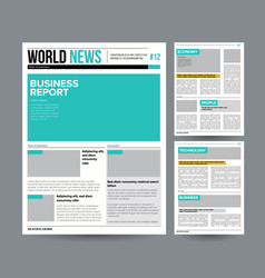 newspaper design template modern newspaper vector image