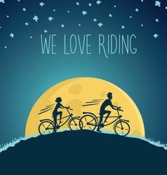 night cycling vector image