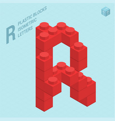 plastic blocs letter r vector image vector image