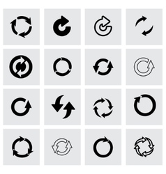 refresh icon set vector image