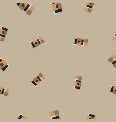 Seamless pattern with coffee glass bottle vector