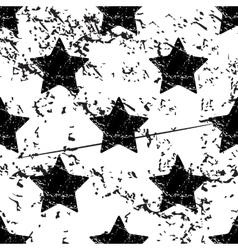 Star pattern grunge monochrome vector