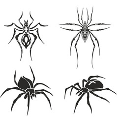 tattoo set of spiders vector image vector image