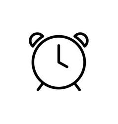 thin line clock alarm icon vector image vector image