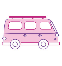 travel van vehicle icon vector image