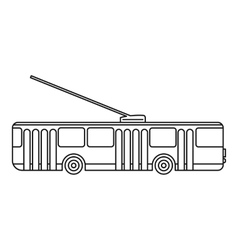 Trolleybus icon outline style vector image
