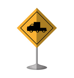 Truck zone traffic signal vector