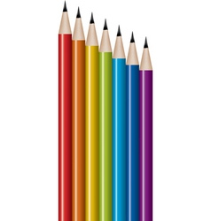 Vector set of lead pencils vector