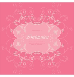 Wedding Floral card vector image vector image