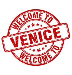 Welcome to venice vector