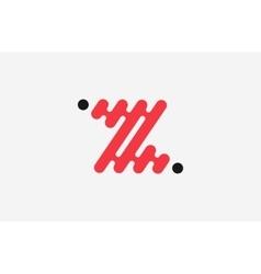 z letter logo line logo creative logo design vector image