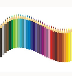 Set of color crayons vector