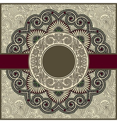 Circle floral ornamental vintage template vector