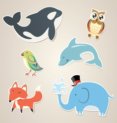 Animal sticker vector