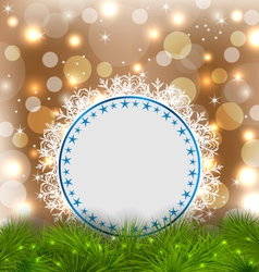 Xmas elegant card on glowing background vector