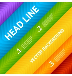 Abstract flyer text box with rainbow background vector