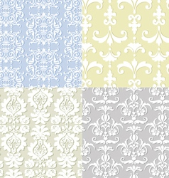 Seamless damask backgrounds vector