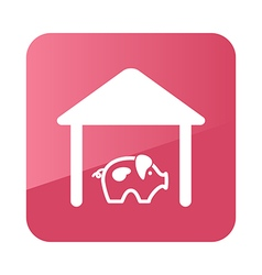 Pigsty icon farm vector