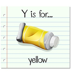 Flashcard letter y is for yellow vector