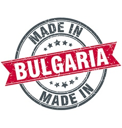 Made in bulgaria red round vintage stamp vector