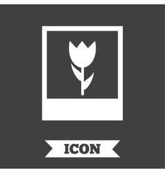 Macro photo frame icon flower photography vector