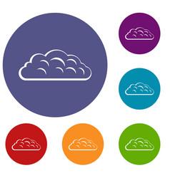 Autumn cloud icons set vector
