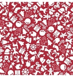 Background of the christmas icons vector