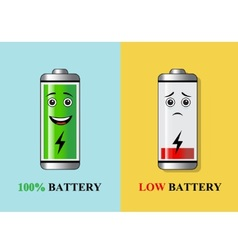 Batteries with different charge vector