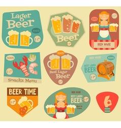 Beer Stickers vector image vector image