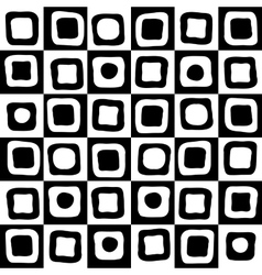Black and white mosaic background vector image vector image