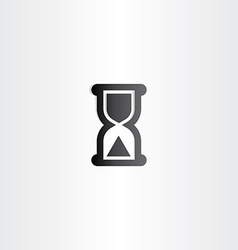 black sand clock icon time concept vector image vector image