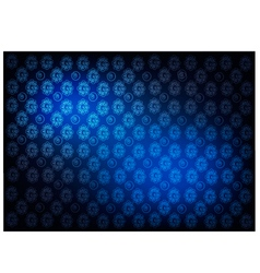 Blue Vintage Wallpaper with Flower Pattern vector image