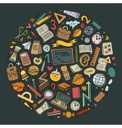 Cartoon Back to school objects set vector image vector image