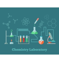 Chemistry research concept vector