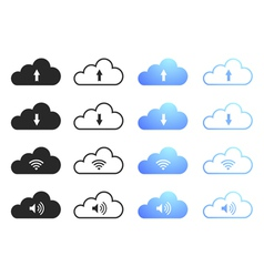 Cloud Computing Icons - Set 1 vector image vector image