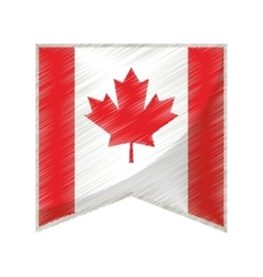 Colored flag pennant canadian vector