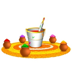 Colorful happy holi vector