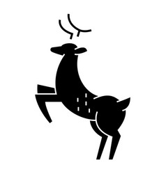 deer icon sign on isolate vector image