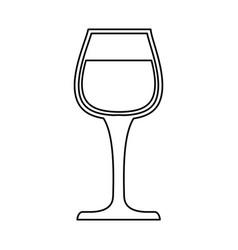 delicious cup of wine vector image