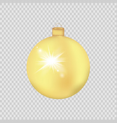 gold christmas ball isolated on a transparent vector image vector image