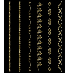 Gold design element chains vector image vector image