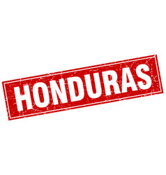 Honduras red square grunge vintage isolated stamp vector
